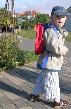 Første dag i børnehave for Mads
