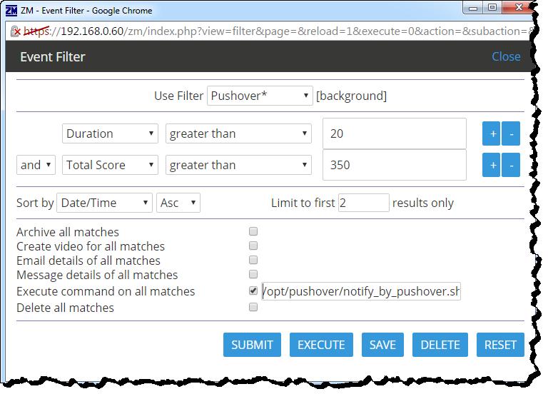 Filter Configuration